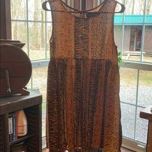 MINKPINK Animal Print Babydoll Dress